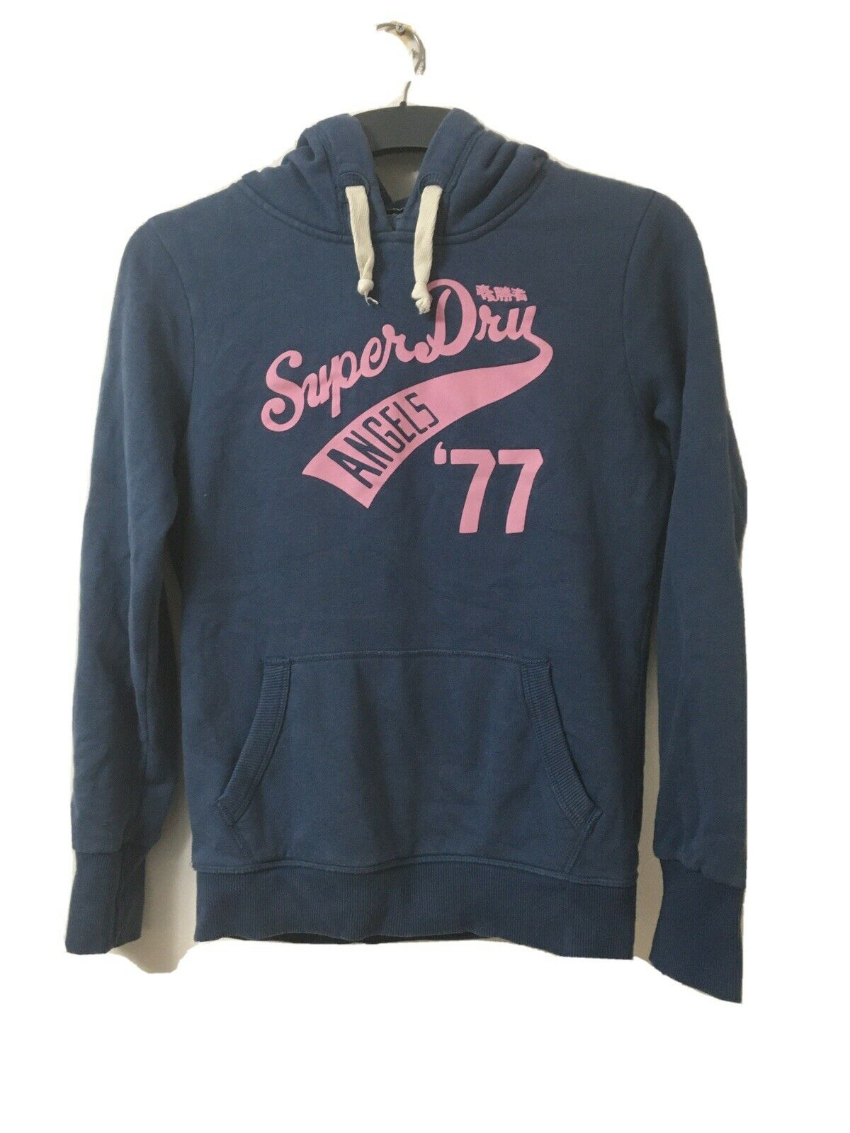 Superdry Womens Grey Blue Cotton/Polyester Hoodie Size M(D626)