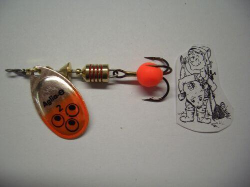 Original Mepps Spinner Aglia Brite Gr.2 4,5g silber//orange