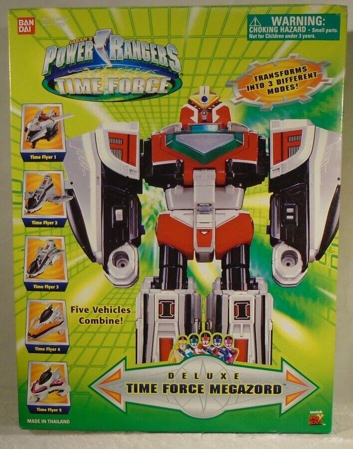 Power Rangers Time Force Deluxe Time Force Megazord (caja Sellada) Sellada) Sellada) Bandai  apresurado a ver