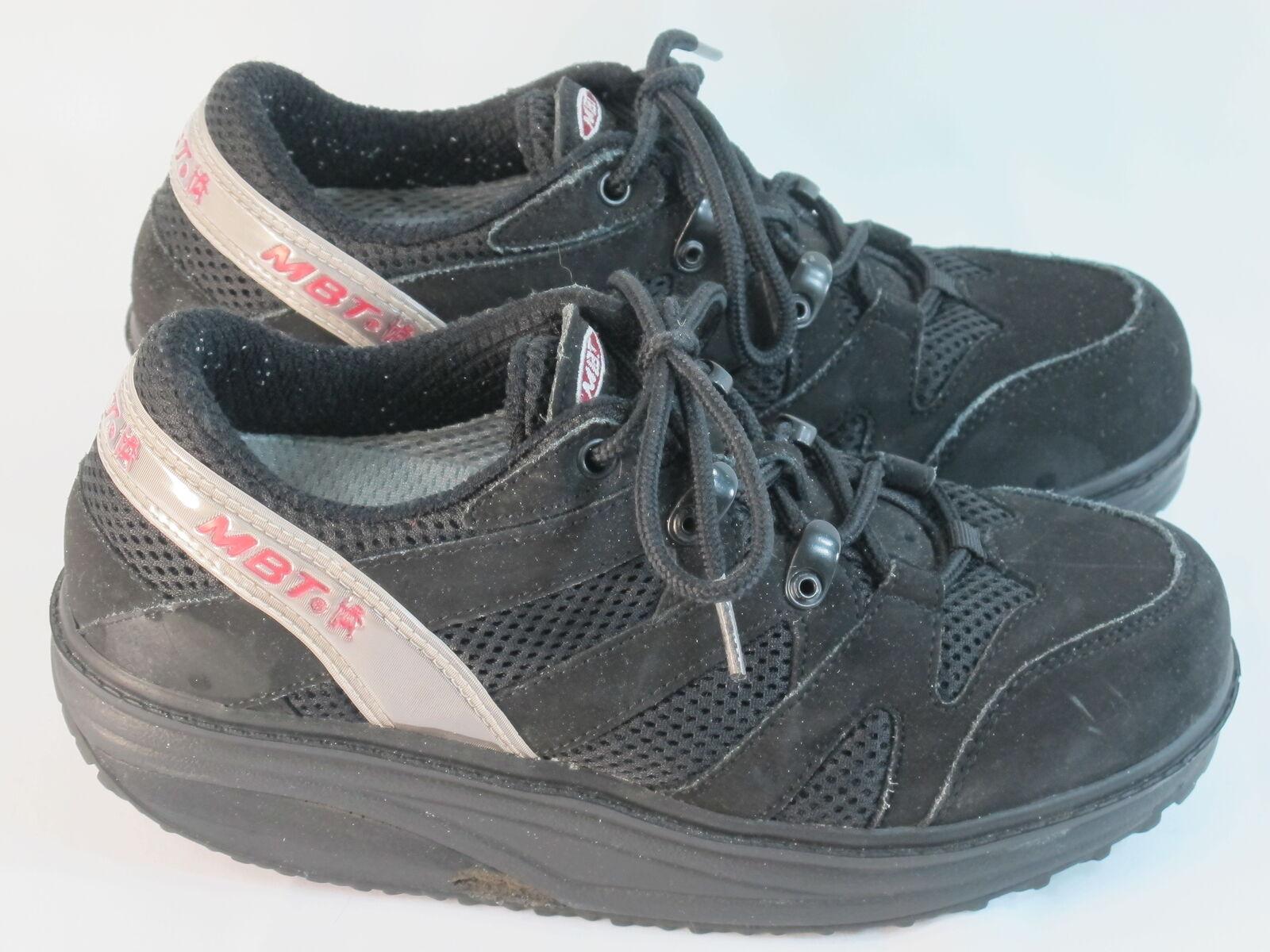 MBT Sport Black Leather Toning Fitness Shoes Women's Size 7 M US Excellent Plus