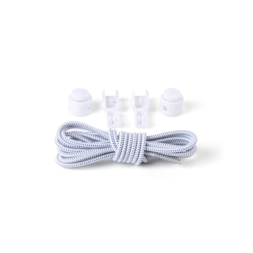 2x Elastic No-Tie Locking Shoelaces Shoe Laces With Buckles For Sport Shoes NEW