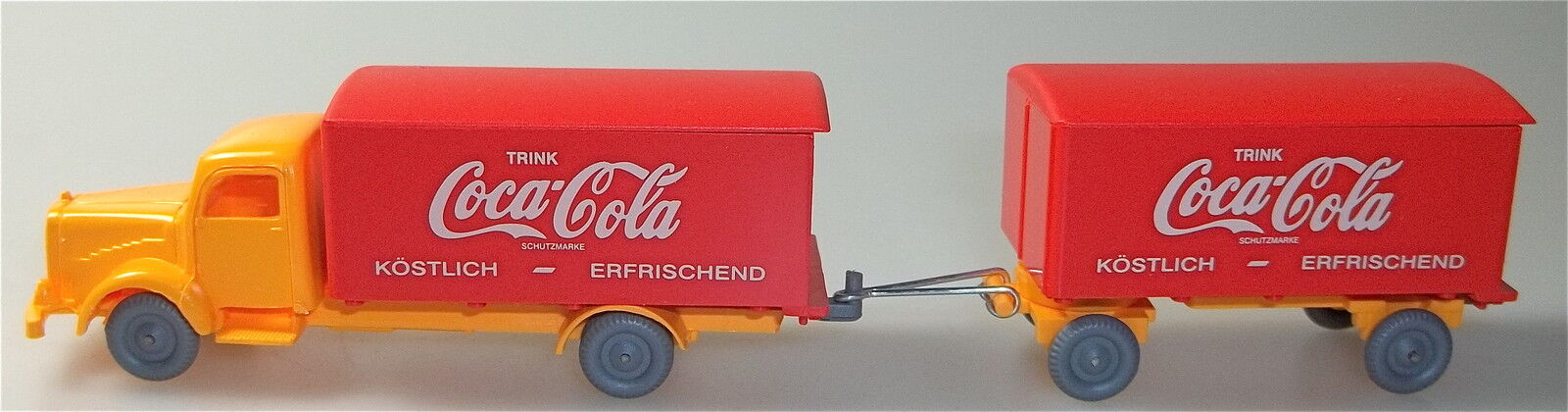 Coca Cola red orange Mercedes 5000 Hängerzug Imu H0 1 87 Å