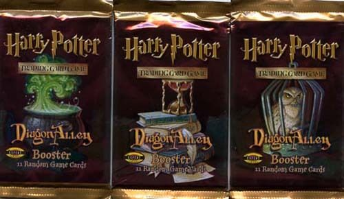 HARRY POTTER CCG DIAGON ALLEY BOOSTER PACKS X3 FACTORY SEALED NEW