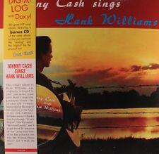 "JOHNNY CASH ""SINGS HANK WILLIAMS"" VINYL LP REISSUE + CD BONUS NEW"
