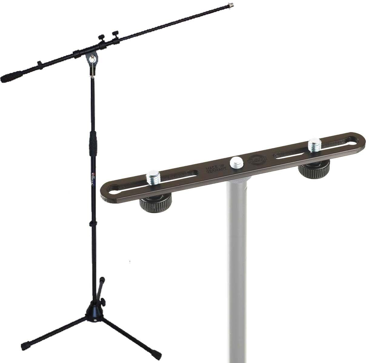 K&m Stereo Bar 23550 + keep Drum Microphone Stand MS107B