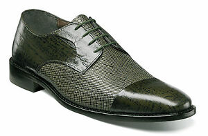 Stacy Adams Men's Gatto Leather Sole Cap Toe Oxford Dress Olive Shoes 25051-303