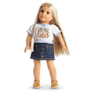 "NEW BOX COMPLETE American Girl Julie /""Peasant Top Outfit/"""