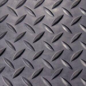 Rubber-Cal Diamond Plate Rubber Flooring Rolls, 1/8-Inch x ...