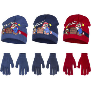 d1ba558a30d3c Image is loading Super-Mario-Winter-Hat-and-Gloves-Set