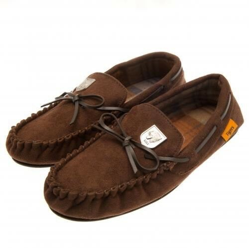 Hull City Football Club Mens Brown Moccasin Slippers Size 7 8 Free UK PP