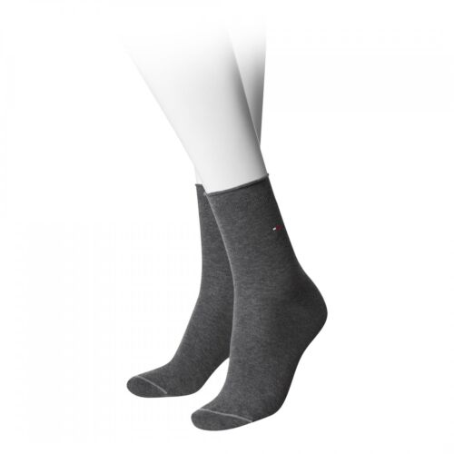 Tommy Hilfiger Strümpfe Damen grau anthrazit Fashion 98/% Baumwolle 2/% Elasthan