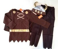 Gymboree M 7-8 Viking Costume & Plush Helmet Hat With Horns Halloween