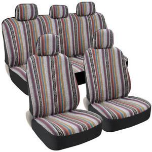 Front Rear Saddle Blanket Car Seat Covers W Baja Indian Design Ebay