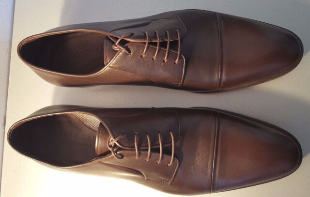 38189de31ff2 Ralph Lauren Gittens Dark Brown Smooth Soft Calf Dress Shoe Made Italy Sz  10.5d for sale online