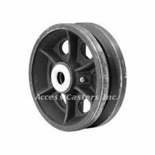 "6PVC62 6/"" x 2/"" Cast Iron V-Groove Wheel 3//4/"" Roller Bearing 1000 lb Capacity"