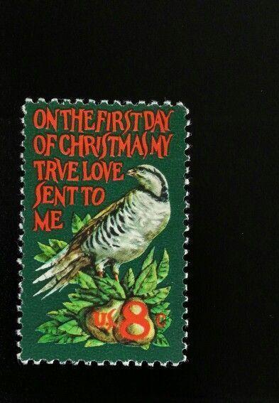 1971 8c Christmas, Partridge, True Love Sent to Me Scot