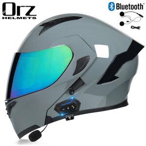 DOT Modular Motorcycle Bluetooth Helmet Full Face Dual Visor Flip Up Moto Helmet