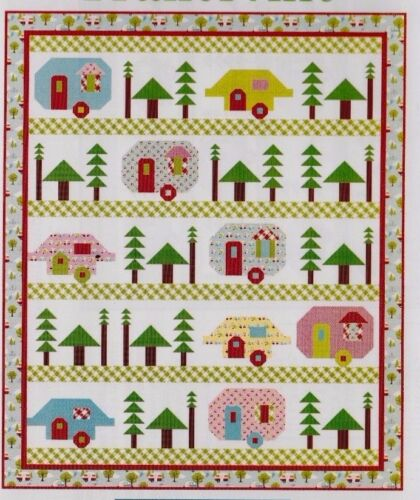 Trailerville fun modern pieced quilt PATTERN Kelli Fannin