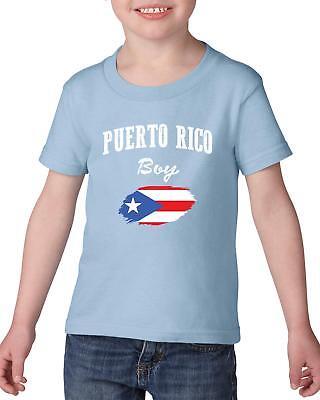 Threadrock Kids Distressed Flag of Puerto Rico Toddler T-shirt Puerto Rican