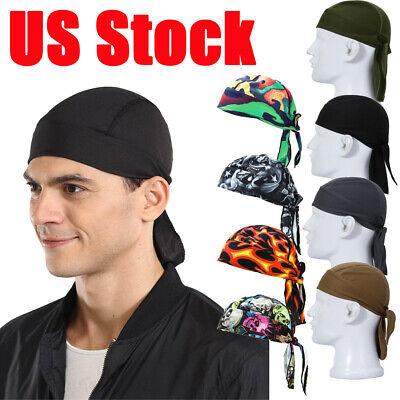 3pcs Headwrap Skull Cap Do Doo Du Rag Motorcycle Helmet Liner Quick Dry Headband
