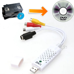 VHS to Digital File Converter Express USB 2.0 to Video Grabber Audio AV Computer