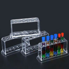 Plastic Clear Test Tube Rack 6 Holes Stand Lab Test Tube Stand Shelf