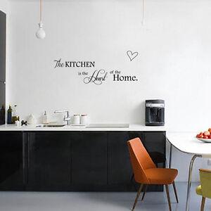 Dettagli su Wall sticker adesivo Kitchen Heart Home decorazione adesiva  parete cucina casa