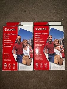 2x packs Canon 4x6 Glossy Photo Paper Plus, 120 Sheets New Sealed 240 sheets