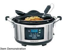 Hamilton Beach 33967A Metallic 6 Qt. 6 Qt Set & Forget Programmable Slow Cooker