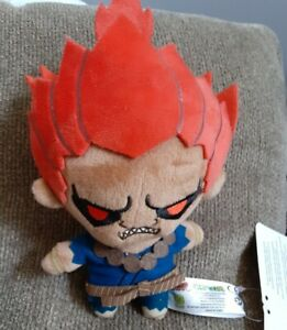 Capcom Street Fighter 6 Inch Plush Dangler Keychain Little Buddy Brand Akuma
