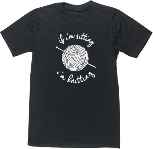 Best Knitting unisex t-shirt funny gift present Hobbie Crocheting Textiles Gift