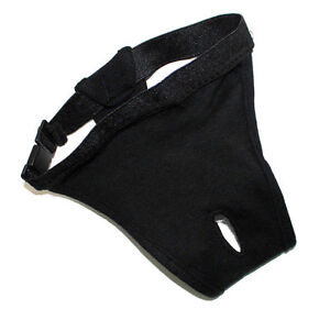 DOG DIAPER Sanitary Pants Female Girl Puppy Stretch Elastic BLACK size S,M, L,XL