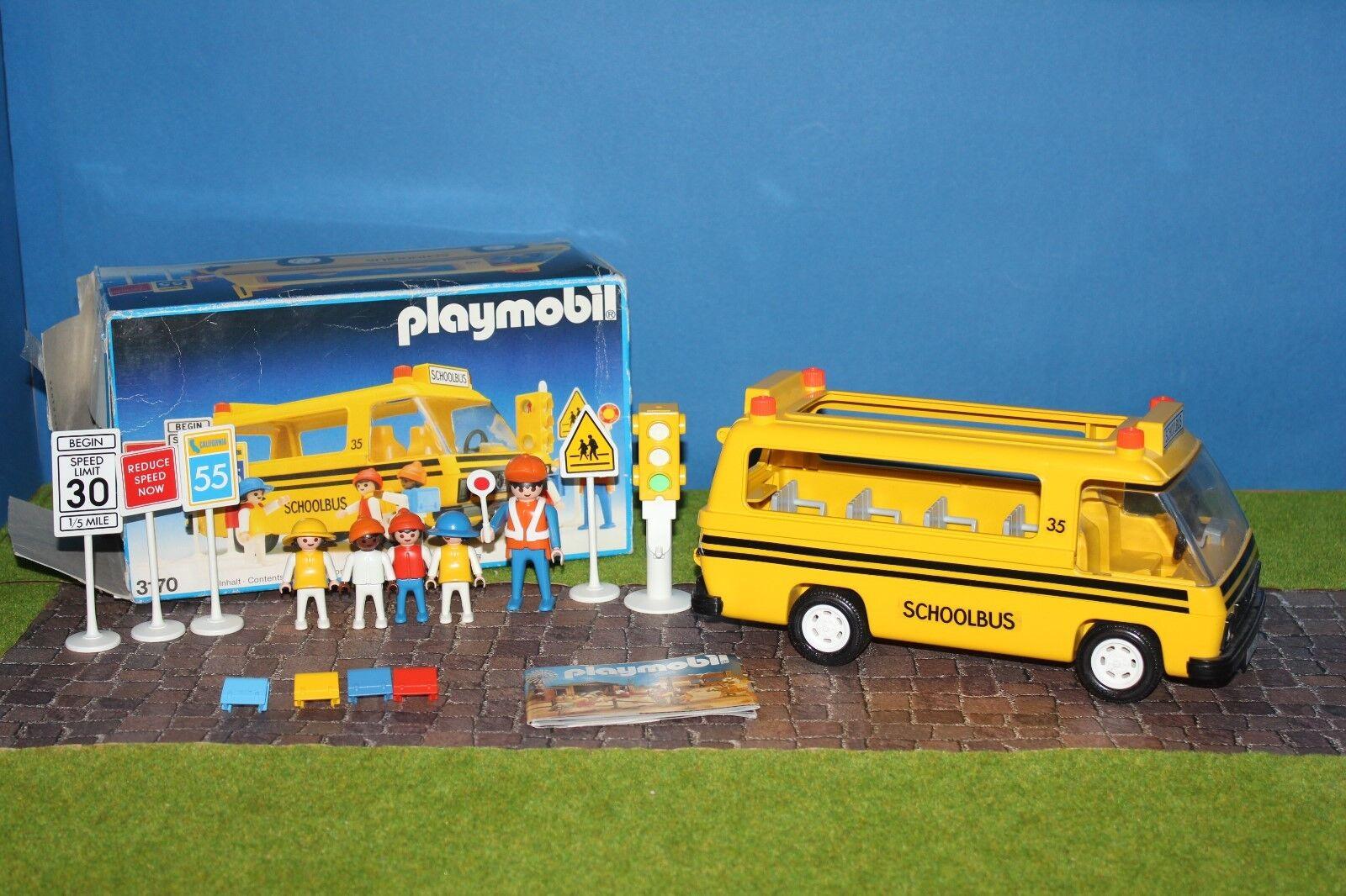 Playmobil 3170 School Bus aus Amerika komplett unbespielt MEGA RAR OVP