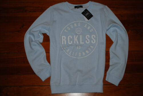 NEW Women/'s Young and Reckless Light Blue California Sweatshirt XS, S /& M
