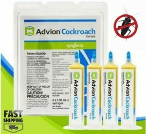 Syngenta-ADVION-Roach-Killer-Cockroach-Gel-Bait-4-Tubes-with-Plunger-amp-Tip-FRESH