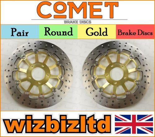 Pair Gold Front Brake Discs Suzuki RGV 250 M 1991-95 R933GD2