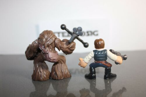 Star Wars Galactic Heroes Han Solo /& Chewbacca Wookie with bowcaster Lot