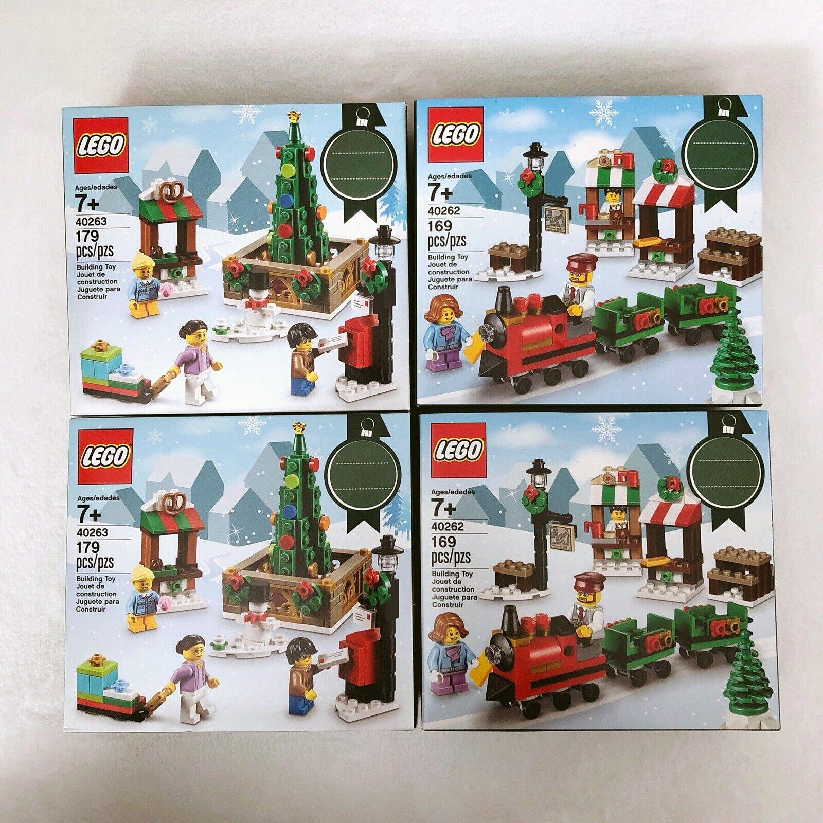 X4 LEGO 40263 e 4262 Christmas Town Square  2017  vendita economica