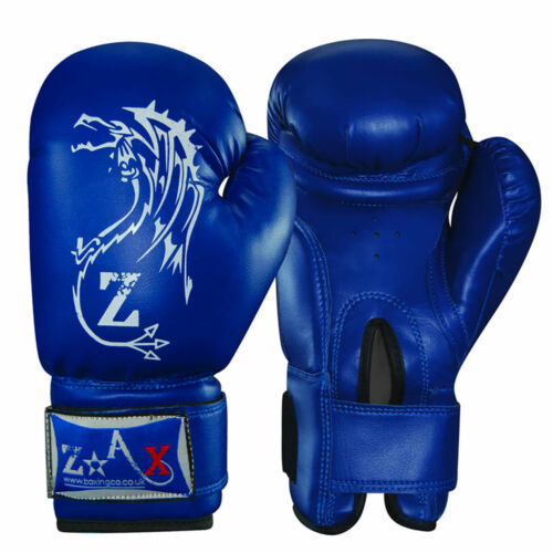 Leather Boxing Gloves Training Gel Sparring Punchbag Fight Gloves 10,12,14 OZ