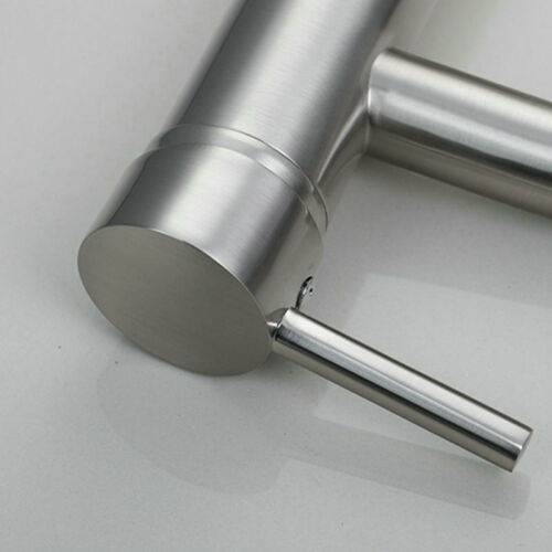 AS Bathroom Brushed Nickel Basin Sink Mixer Taps Single Handle Hot/&Cold Faucet