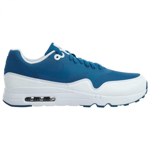 Nike Air Max 1 Ultra 2.0 ESS Mens 875679 402 Industrial Blue Run Shoes Size 9.5