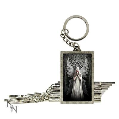STUNNING  ' ONLY LOVE REMAINS '  3D  KEYRING - ANNE STOKES    -  NEMESIS NOW