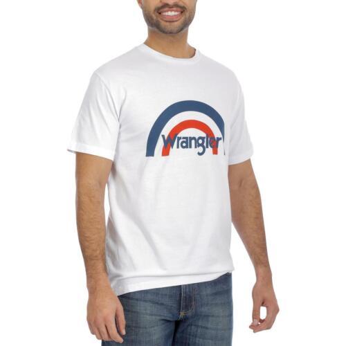 Wrangler Mens White Cotton Crew Neck Tee Logo T-Shirt Top XXL BHFO 4750