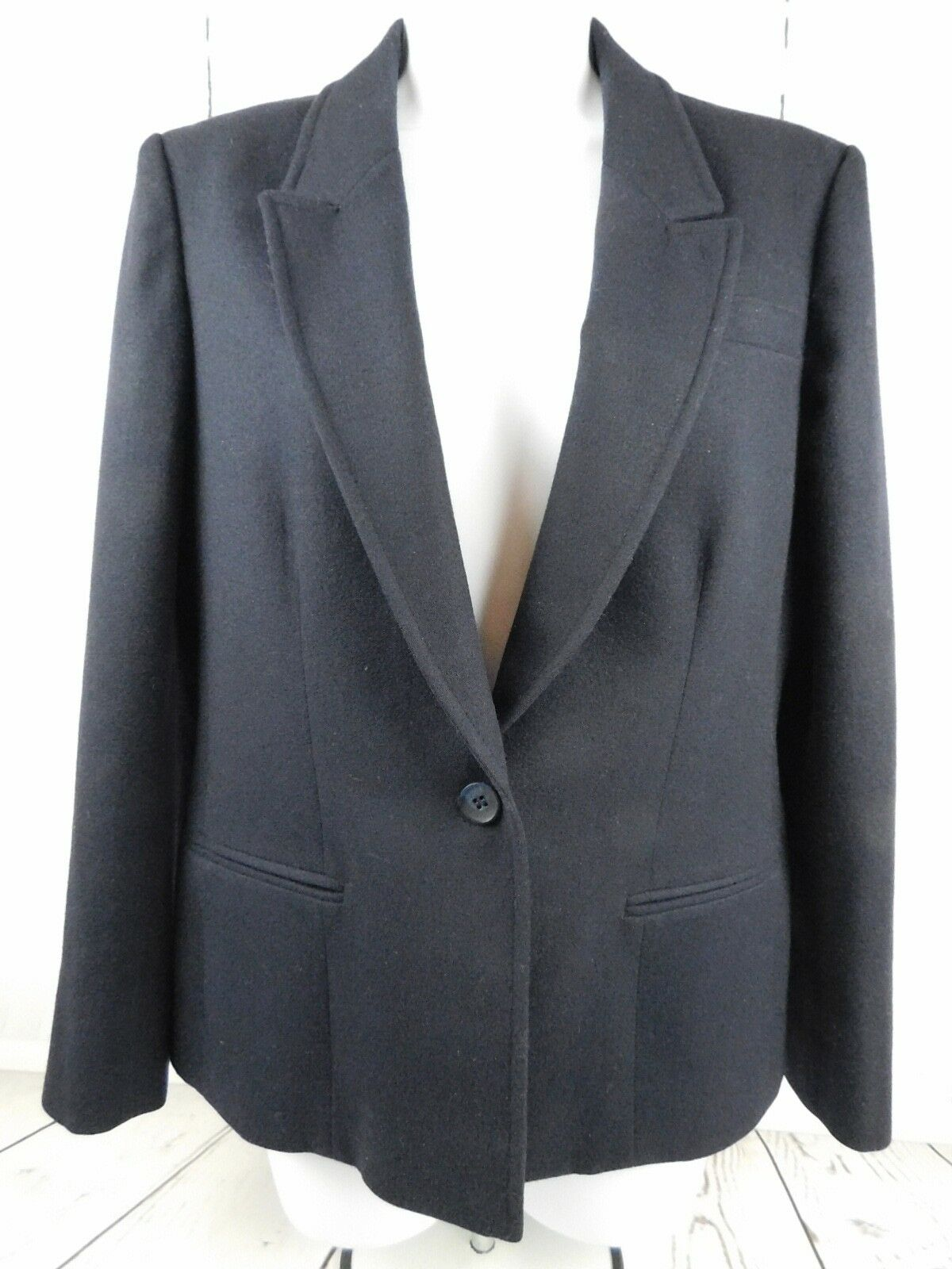 Young Pendleton Pure Virgin Wool Blazer Navy bluee Size Small Ladies Lined