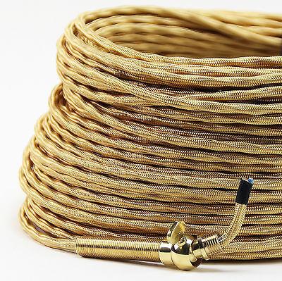 Textilkabel Stoffkabel 4-adrig Lampen-Kabel extra dünn für Kronleuchter Lüster