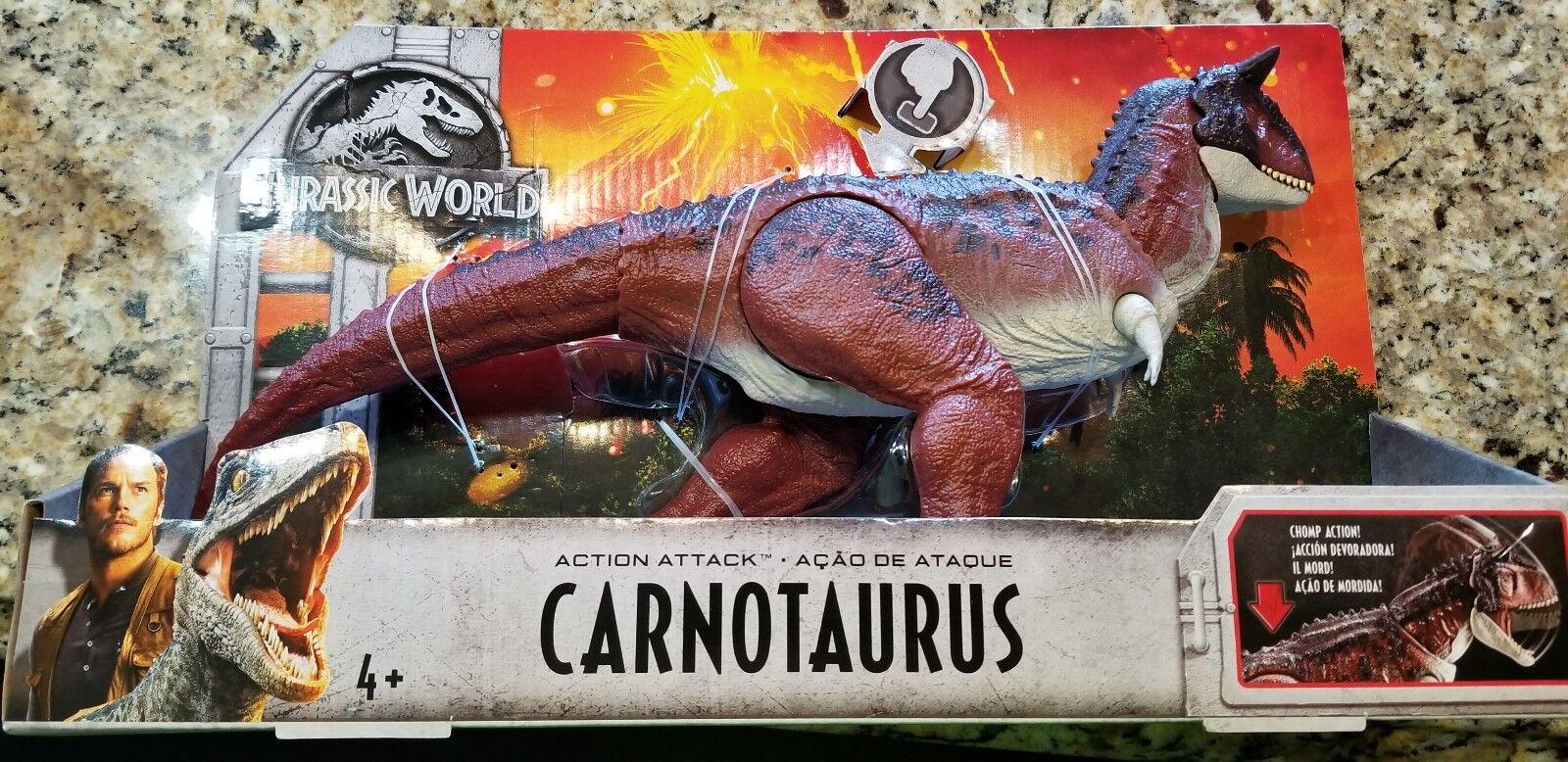 Jurassic World 2 Fallen Fallen Fallen Kingdom Carnotaurus Chomping Mattel NEW RARE 3a995c