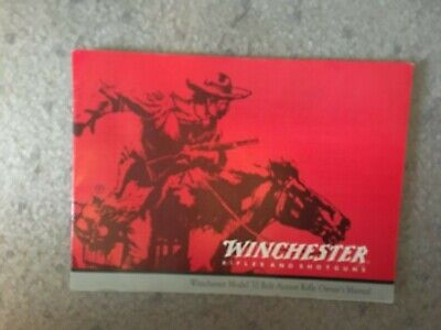 Winchester  model 70 owners manual 1998