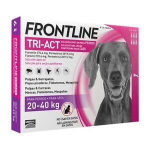 Frontline Tri-act pour chiens 20-40 kg (6 pipettes)