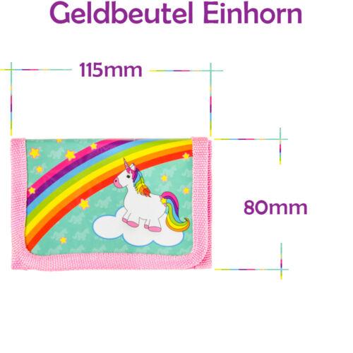 6er Set Licorne Unicorn Enfants Portefeuille portmonnaie Fille Cadeau Mitgebsel
