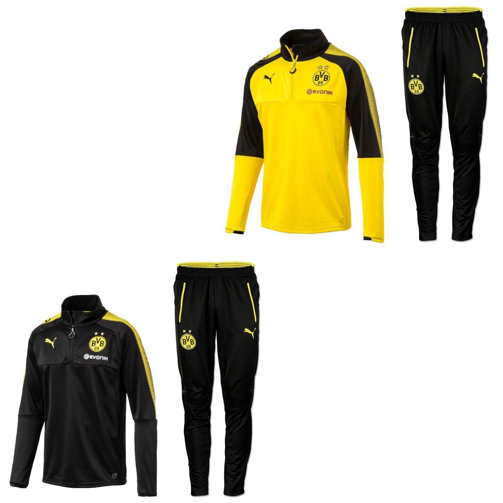 Puma BVB Borussia Dortmund Trainingsanzug Trainingsanzug Trainingsanzug Sportanzug mit Half Zip 2017 - 2018 b17978